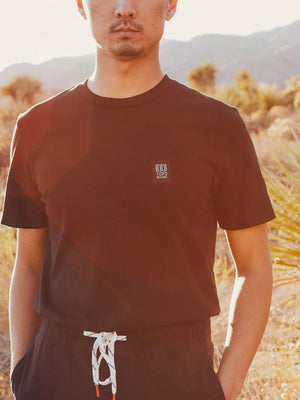 Topo Designs Label Tee Natural
