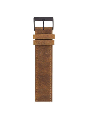 Briston Vintage Leather Strap Brown PVD 20mm