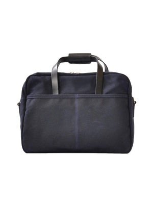 Oakstreet Bootmakers Indigo Waxed Canvas Utility Briefcase-Bags-Oakstreet Bootmakers-MORE by Morello