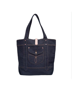 Oldblue Co. Denim Bag Type I Denim & Leather - MORE by Morello - Indonesia