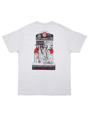Oldblue Co. x MORE by Morello Tee The Gentlemen's Club Ash Grey - MORE by Morello