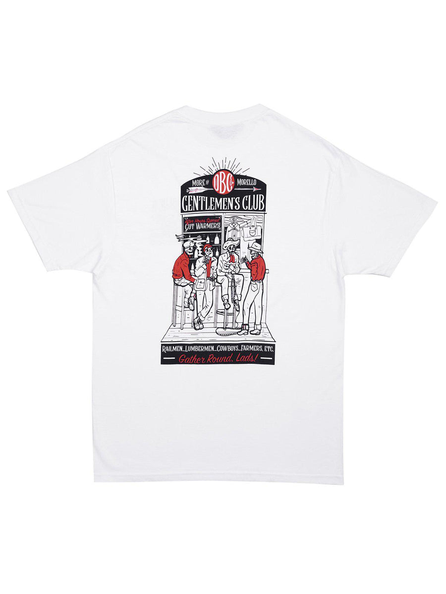 Oldblue Co. x MORE by Morello Tee The Gentlemen's Club White - MORE by Morello