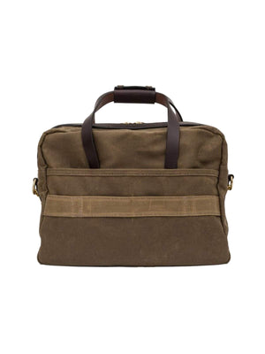 Oakstreet Bootmakers Waxed Canvas Utility Briefcase-Bags-Oakstreet Bootmakers-MORE by Morello