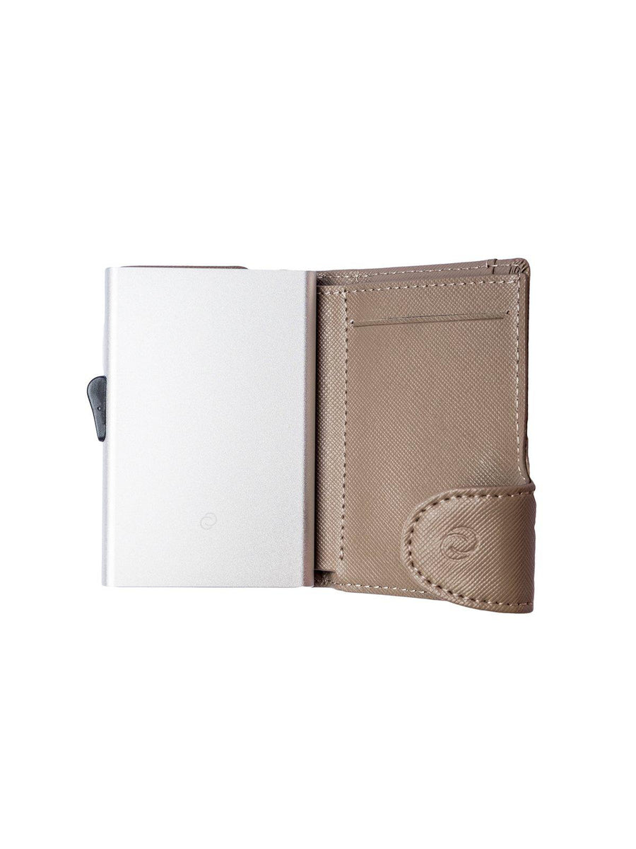 C-Secure Saffiano Leather RFID Wallet Grey - MORE by Morello Indonesia