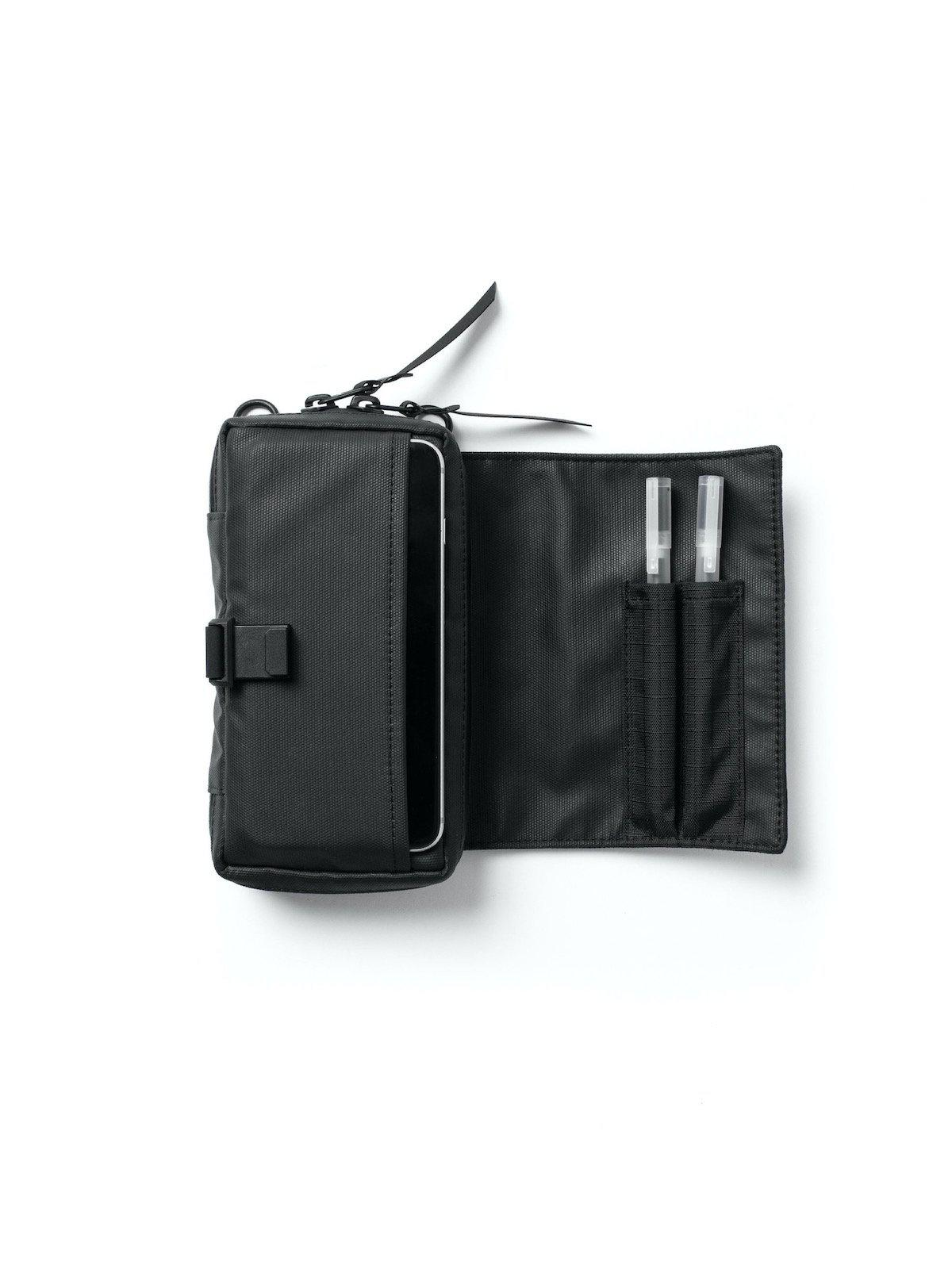Black Ember SML Admin Pouch Jet Black - MORE by Morello Indonesia