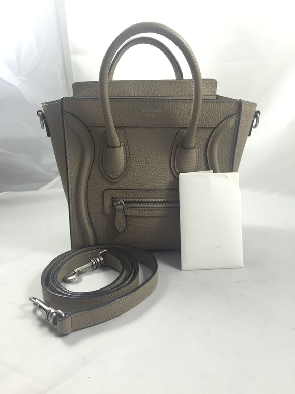 Celine Nano Grey Textured