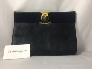 Salvatore Ferragamo clutch GHW