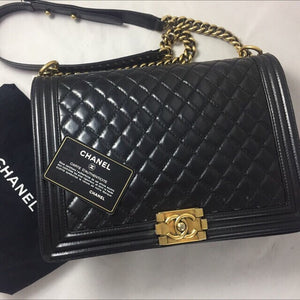 Chanel Large Boy Calfskin GHW