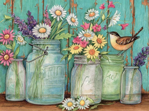 Jars of Flowers