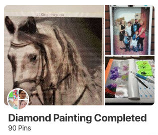Diamond painting completed