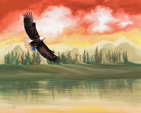 Eagle in the Sky Diamond Art