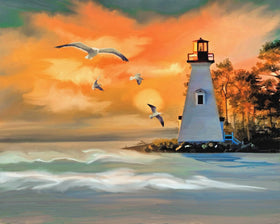 Modern Lighthouse Diamond Art