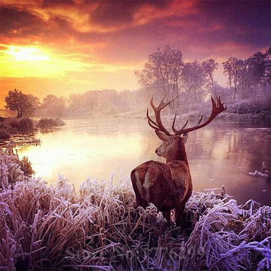 5D Diy Winter Deer Daimond Painting