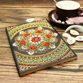 Red Flower Diamond Painting Notebook
