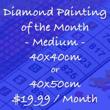 Diamond Painting Monthly Subscription - Medium Size (40x40cm or 40x50cm) - Round
