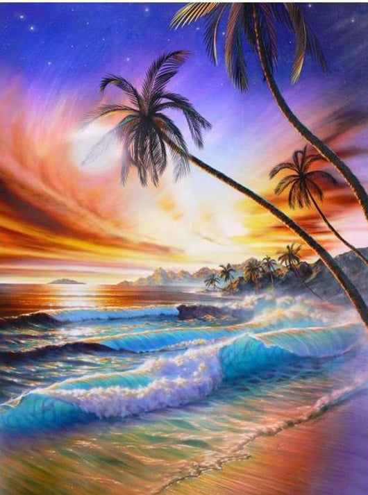 Beach Sunset Diamond Painting