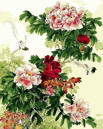 Birds And Flower Diamond Painting