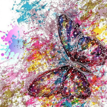 Butterfly Diamond Painting Kit Round