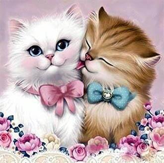 Cat Couple Diamond Painting
