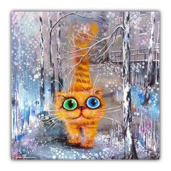 Cool Cat Diamond Painting Round