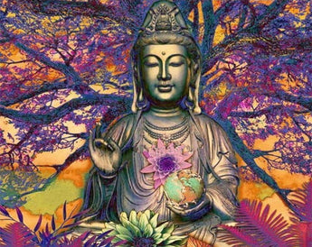Colorful Buddha Tree