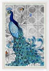 DiamondXpres Blue Peacock Diamond Painting