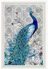 Blue Peacock Diamond Painting, - diamondxpres