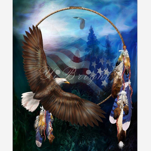 DiamondXpres Eagle and Flag 2 Diamond Painting