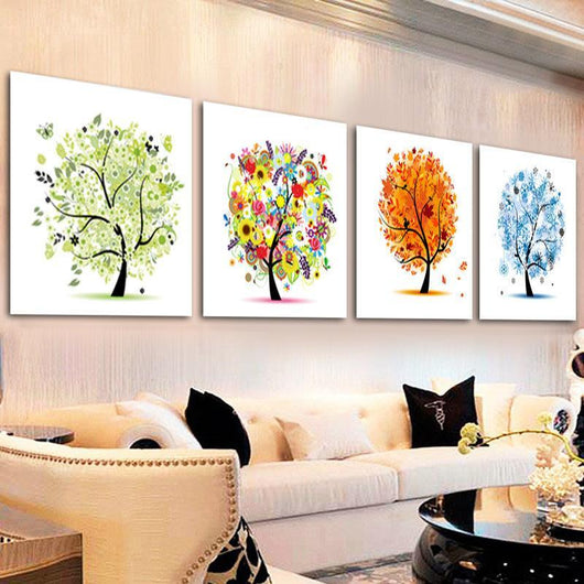 DiamondXpres Four Seasons Money Tree Diamond Painting