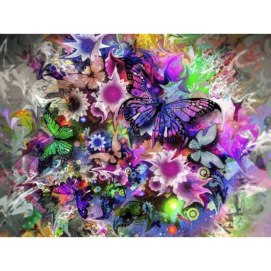 DiamondXpres Hidden Butterfly Diamond Painting