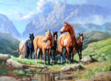 DiamondXpres Horses on the Move Diamond Painting