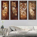 DiamondXpres Lions and Tigers Diamond Painting Kit