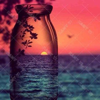 DiamondXpres Sunset in a bottle Diamond Painting