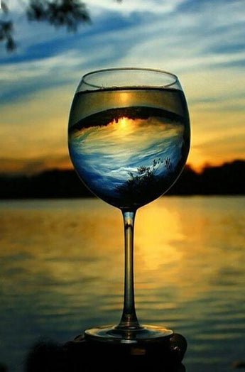 DiamondXpres Sunset Wine Diamond Painting
