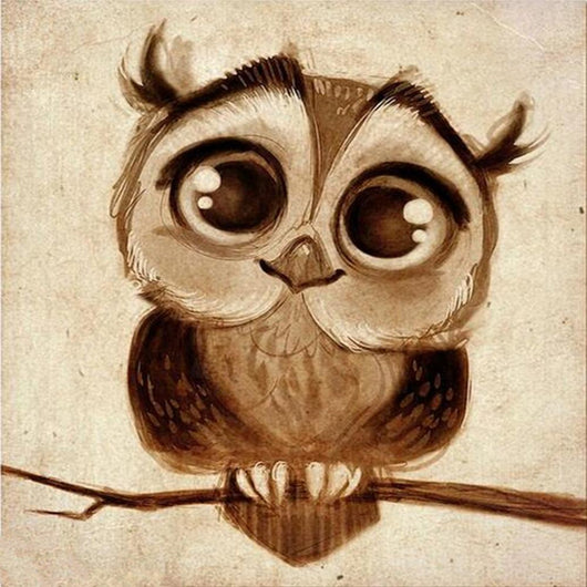 DiamondXpres Sweet Little Owl Diamond Painting