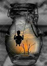 DiamondXpres Swinging Boy in a Jar Diamond Painting