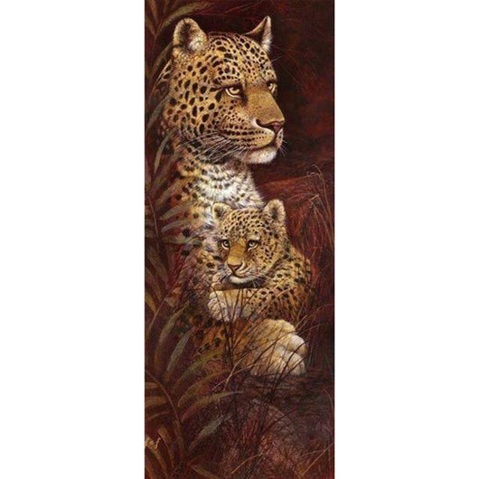 DiamondXpres White / 30x75cm Lions and Tigers Diamond Painting Kit