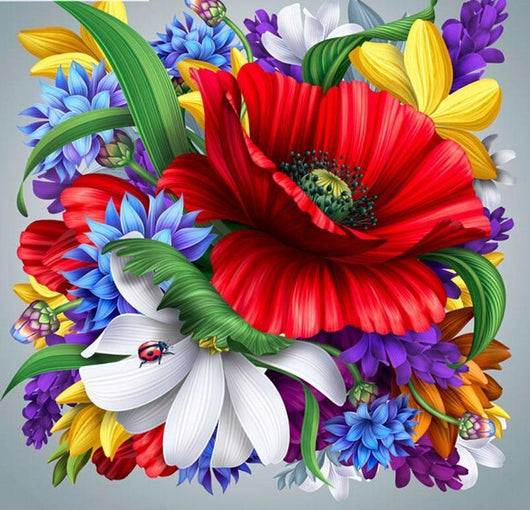 Flower picture Diamond painting