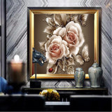 Flower Rose Petals Diamond Painting