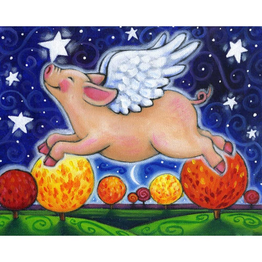 Flying Pig Diamond Painting