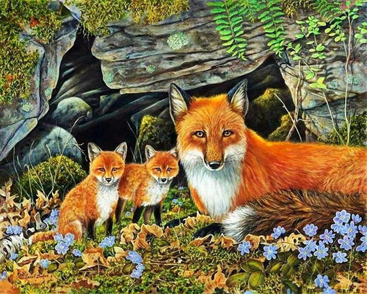 Forest Foxes Diamond Painting