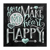 Happy Chalkboard Diamond Painting Round