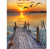 Lake sunset Diamond Painting