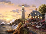 Lighthouse at Dusk Diamond Painting