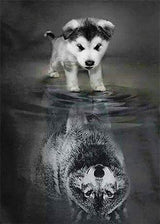 Little Puppy Reflection Diamond Painting