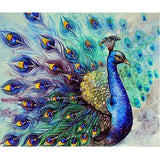 peacock diamond painting