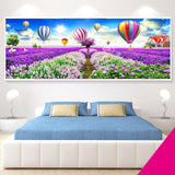 Purple Fields and Balloons Diamond Painting