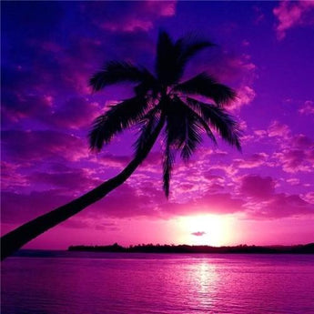 Purple Palm Diamond Painting
