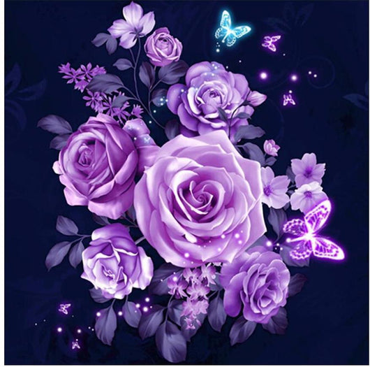 Purple Rose Diamond Painting