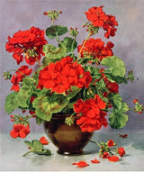 Red Flowers Diamond painting